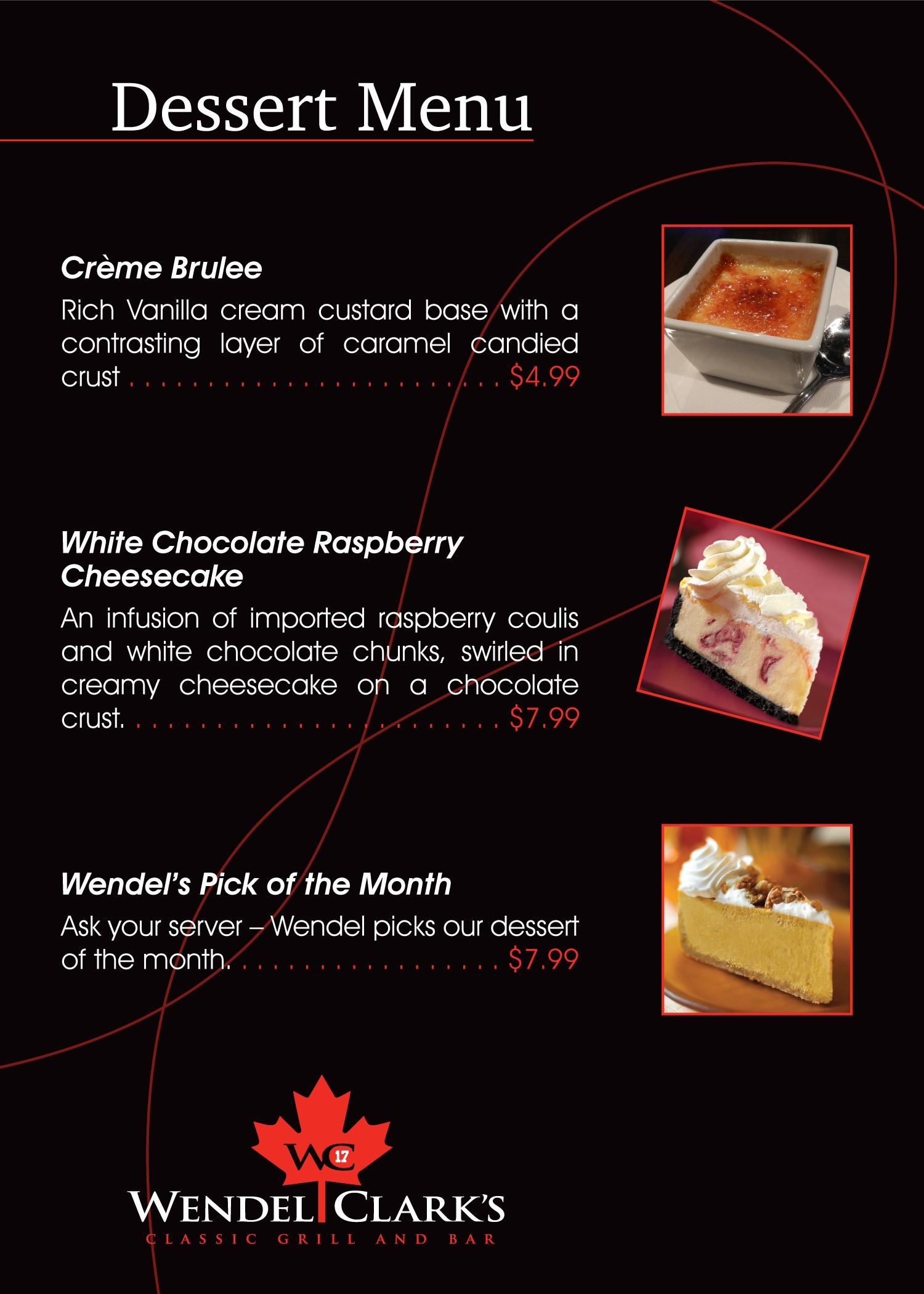 Wendel Clark's Dessert Menu: Page 2