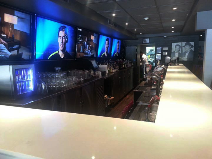 Wendel Clark's bar setup