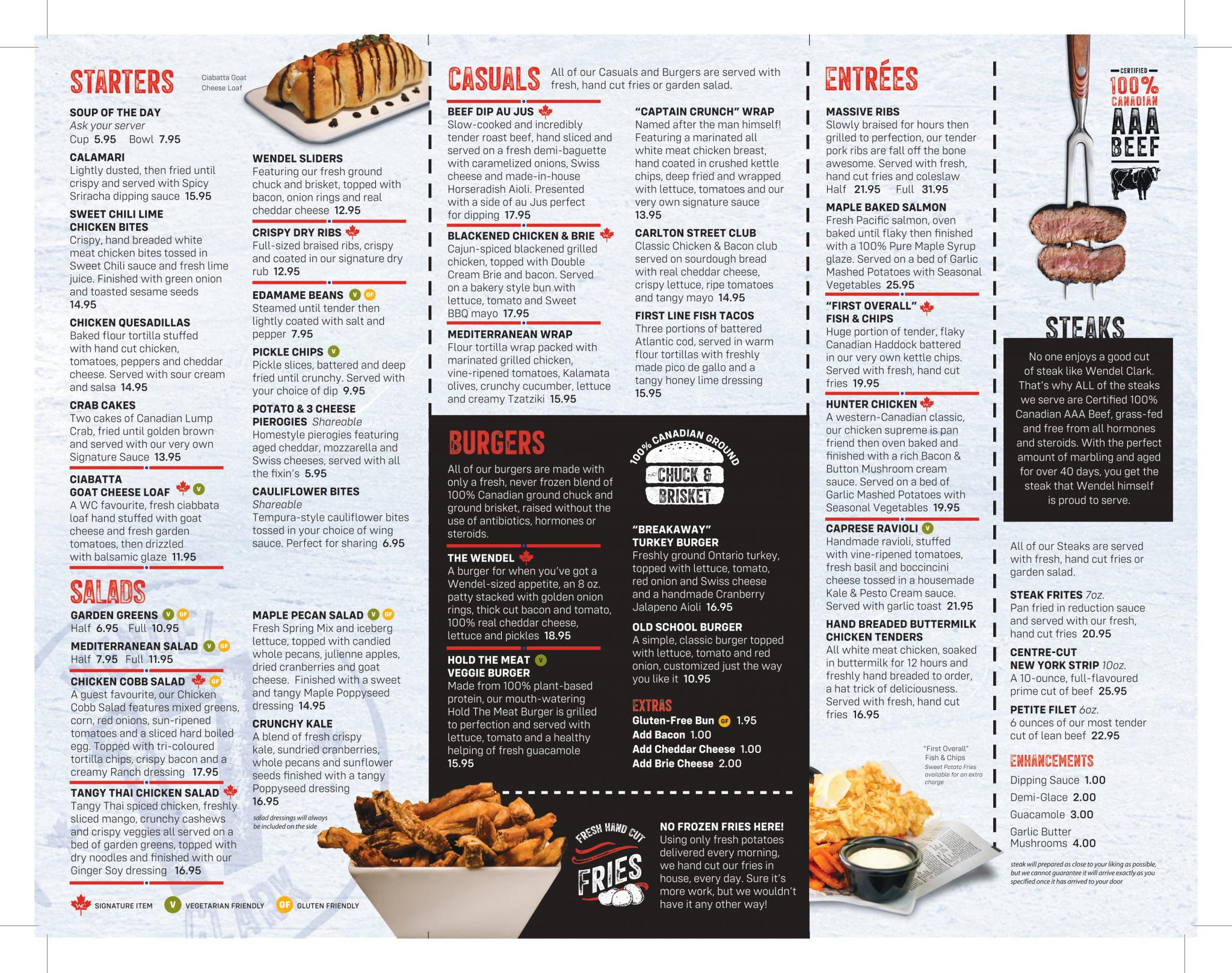 Menu – Wendel Clark's Classic Grill and Bar