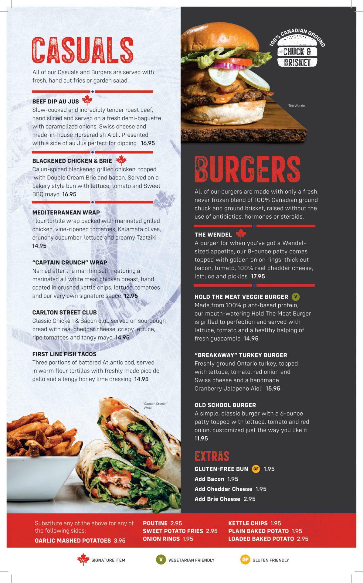 Dinner Menu - Casuals & Burgers (Updated)