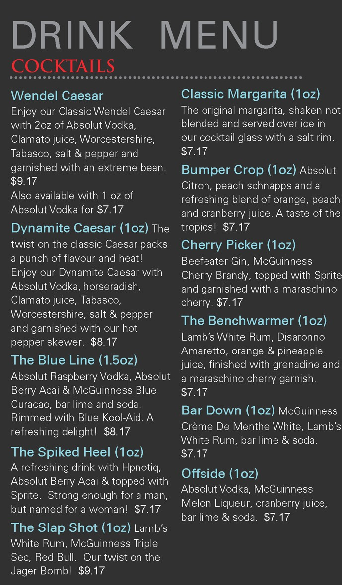 Drink Menu - Text - 1